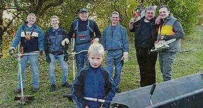 Pflegearbeiten beim Muschenheimer Naturschutzverein